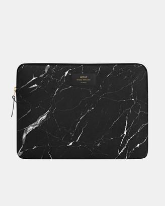 Wouf Laptop Sleeve Black Marble