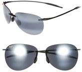 Maui Jim 'Sugar Beach - PolarizedPlus ® 2' 62mm Rimless Sunglasses