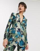 Asos Edition EDITION summer floral jacquard blazer