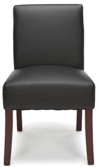 Wrought StudioTM Watchet Guest Chair Wrought Studio Seat Color: Black