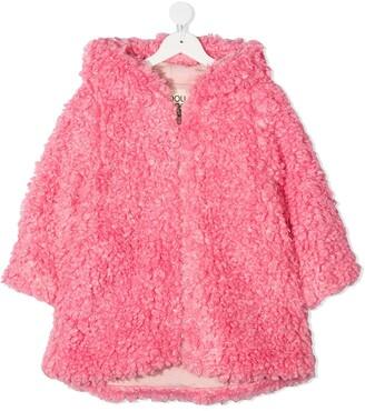 Douuod Kids Hooded Faux Fur Jacket