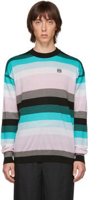 Loewe Blue Stripe Anagram Sweater