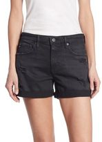 AG Jeans Hailey Ex-Boyfriend Distressed Roll-Up Denim Shorts