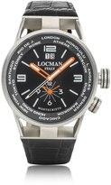 Locman Montecristo Stainless Steel & Titanium Dual Men's Watch w/Leather Strap