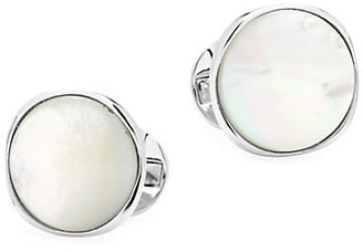 Cufflinks Inc. Ox & Bull Trading Co. Sterling Silver & Mother of Pearl Cufflinks