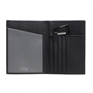 Voya Leather Passport Holder Black
