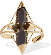 Noir Kaleidoscope Gold-Tone Cubic Zirconia Cuff
