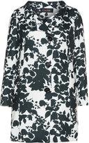 Classic Plus Size Floral print coat