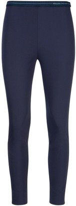 Prada Logo Band Straight Leg Trousers