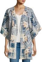 Johnny Was Laite Floral-Print Cotton Kimono, Multi