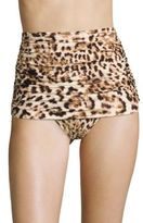 Norma Kamali Bill Leopard-Print Bikini Bottom