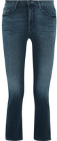 Mother The Insider Crop High-rise Flared Jeans - Dark denim