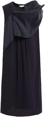 Lanvin Draped Cady Dress