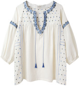 Suno Embroidered Peasant Top