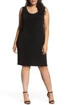 Vikki Vi Plus Size Women's Sleeveless Shift Dress
