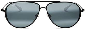Maui Jim Unisex Shallows Polarized Aviator Sunglasses, 52mm