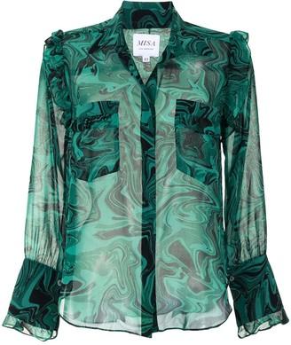 MISA Anita marble print shirt