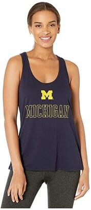 Champion College Michigan Wolverines Eco(r) Swing Tank Top (Navy 3) Women's Sleeveless