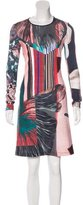 Clover Canyon Abstract Print Long Sleeve Dress