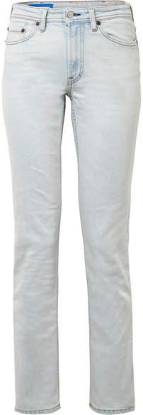 Acne Studios South Mid-rise Straight-leg Jeans - Light denim