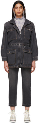 Etoile Isabel Marant Black Denim Guila Dress