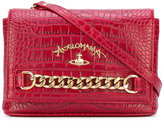 Vivienne Westwood chain detail shoulder bag - women - Cotton/Leather - One Size