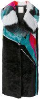 Marco De Vincenzo wide collar faux fur gilet - women - Acrylic/Polyester/Viscose - 40