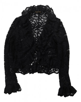 Alexander McQueen Black Lace Tops