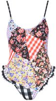 Jaded London **Gingham Patchwork Frill Swimsuit