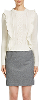 Oui Wool Blend Pencil Skirt, Grey