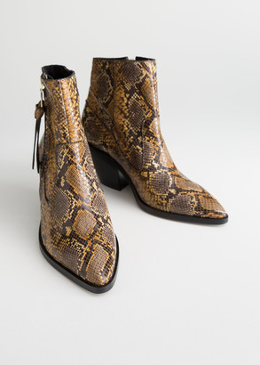 And other stories Snake Cowboy Ankle Boots