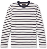 Beams Striped Cotton T-shirt - White