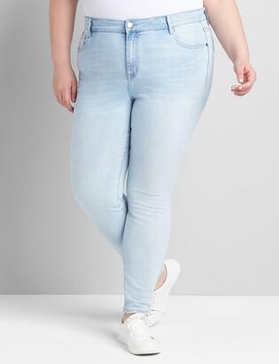 Lane Bryant Straight Fit High-Rise Skinny Jean -Light Wash