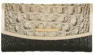 Brahmin Modern Cresent Leather Checkbook Wallet