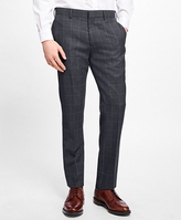 Brooks Brothers Slim-Fit Windowpane Stretch-Wool Trousers
