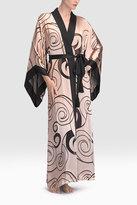 Josie Natori Scroll Burnout Robe