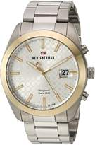 Ben Sherman Men's 'The Ronnie Professional' Quartz Gold and Stainless Steel Casual Watch, Color:-Toned (Model: WBS109GSM)