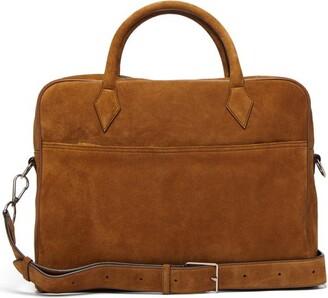 Métier Metier - Closer Suede Briefcase - Brown