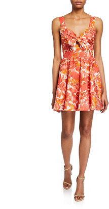 Alexis Ilda Floral-Print Sweetheart Fit-&-Flare Dress