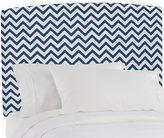 Skyline Furniture Upholstered Headboard in Zig Zag Navy White