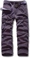 Myncoo Men's Cotton Solid & Camo Cargo Pants 18 Styles