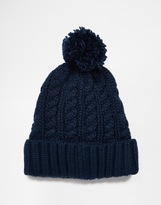 French Connection Bobble Beanie - Blue