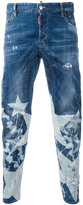 DSQUARED2 Tidy Biker bleached star jeans - men - Cotton/Polyester/Spandex/Elastane - 42