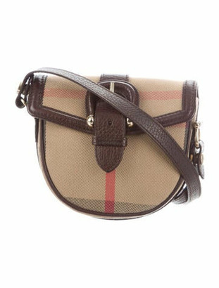 Burberry Mini House Check Crossbody Bag Tan
