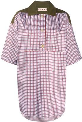 Marni Checked Longline Shirt