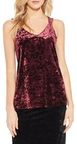 Vince Camuto Women's Crushed Velvet V-Neck Tank