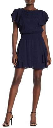 Parker Smocked Waist Swiss Dot Mini Dress