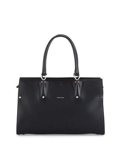 Longchamp Paris Premier Large Tote Bag, Black