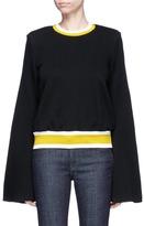 Ellery 'Immortal' trumpet sleeve cropped sweatshirt
