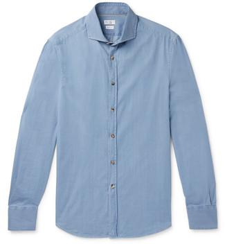 Brunello Cucinelli Slim-fit Cotton-chambray Shirt - Blue